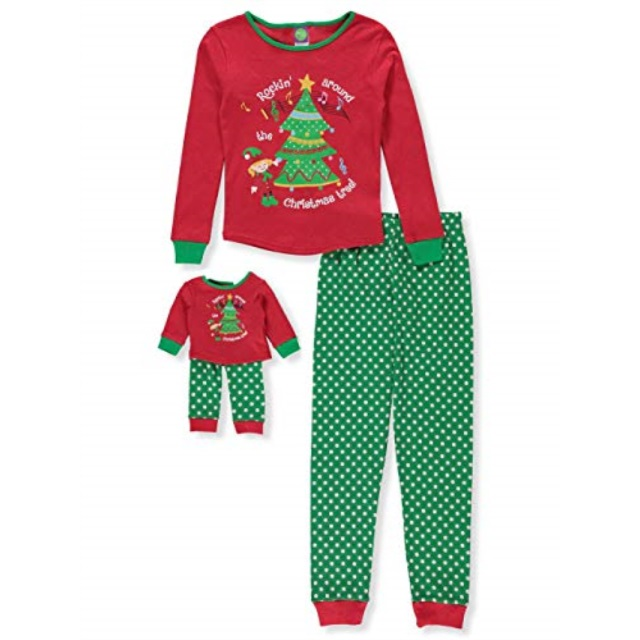 b0fdbd133111 Dollie Me Girls Pc Snowman Pajamas Matching Doll Pajama Set