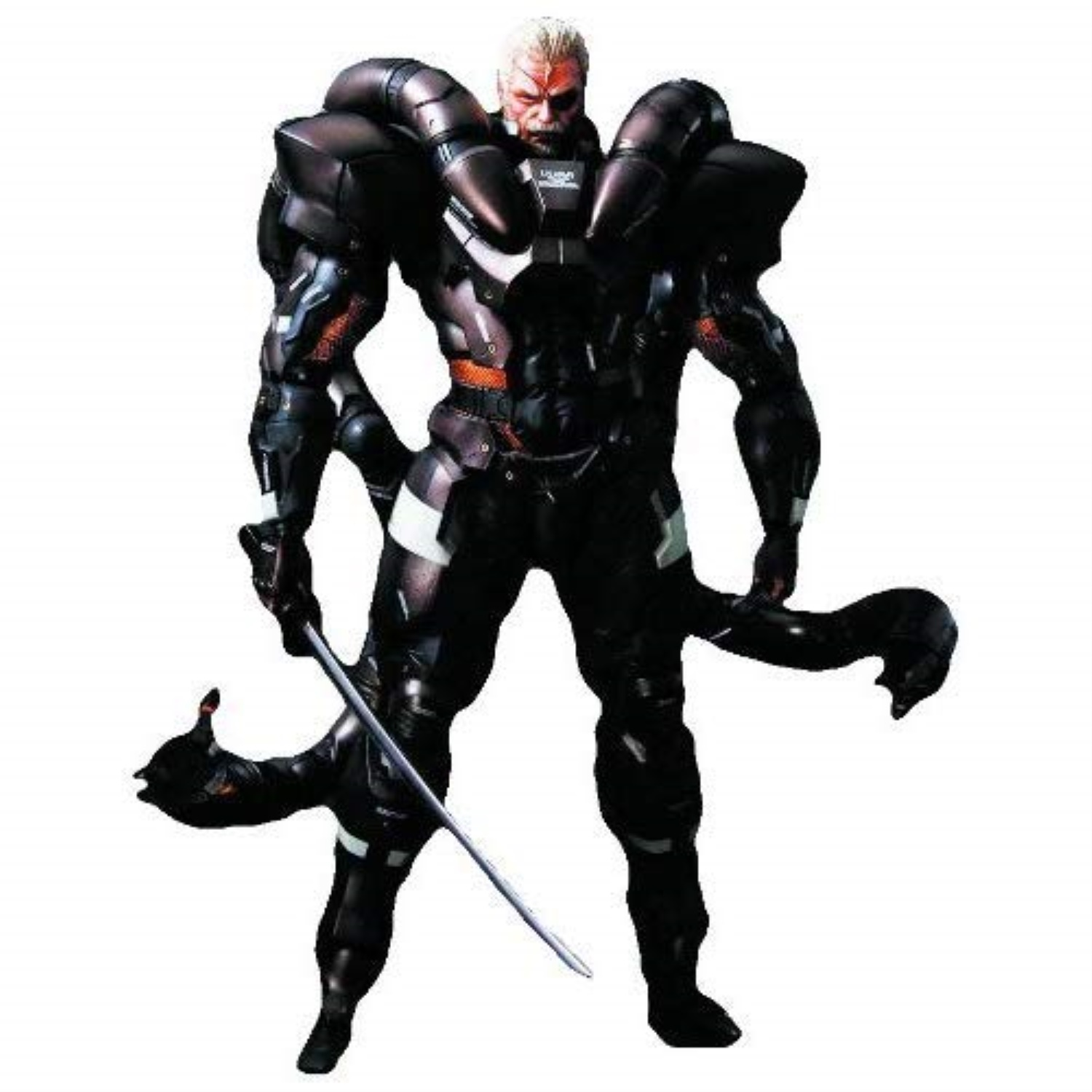 Details About Square Enix Metal Gear Solid 2 Play Arts Kai Solidus Snake Action Figure