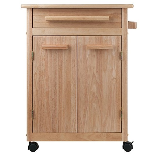Details about Winsome Wood Single Drawer Kitchen Cabinet Storage Cart,  Natural