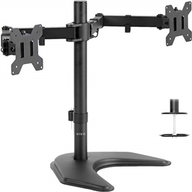dual led lcd monitor free standing desk
