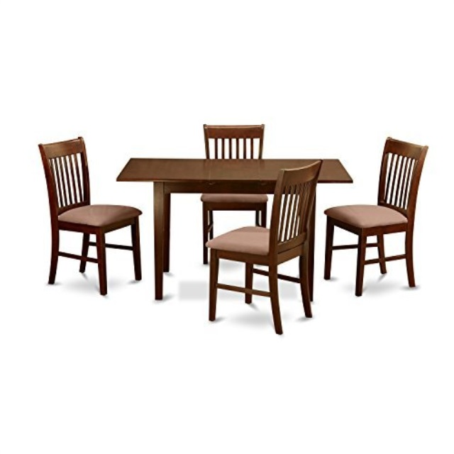 Details about East West Furniture NOFK5-MAH-C 5-Piece Kitchen Nook Dining  Table Set, Mahogany
