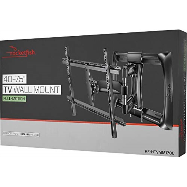 """Rocketfish - Full-Motion TV Wall Mount for Most 40"""" - 75"""" TV"""