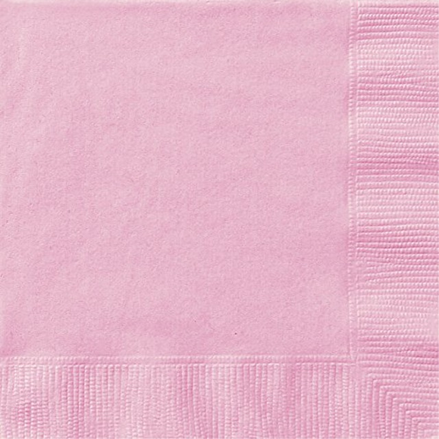 Light Pink Paper Napkins, 20ct - Health & Household